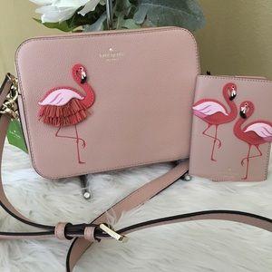 Kate Spade Flamingo Camera Bag Handbag By the Pool